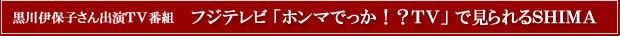 黒川伊保子さん出演TV番組 フジテレビ「ホンマでっか!?TV」で見られるSHIMA