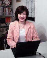尾花紀子さん オレンジのSHIMAスーツで